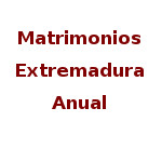 Matrimonios. Series anuales. Datos definitivos 2019